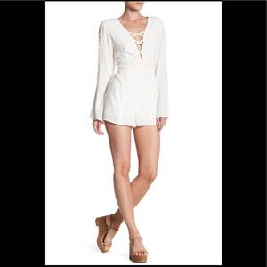Lucca couture Cross Front Detail Longsleeve Romper